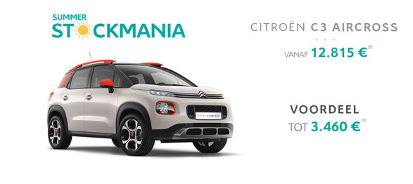 C3 aircross citroën garage dealer crivaco gent lovendegem stockmania promotie