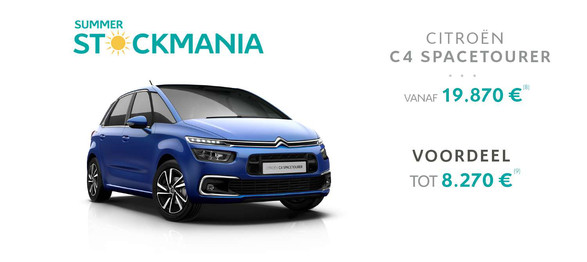 C4 space tourer citroën garage dealer crivaco gent lovendegem stockmania promotie