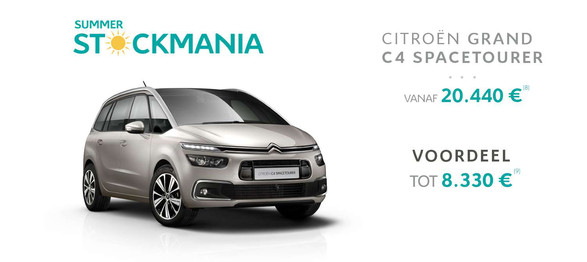 Grand C4 spacetourer citroën garage dealer crivaco gent lovendegem stockmania promotie